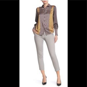 NEW KUT F. T. KLOTH Grey Taylor Crop Trousers-S 12